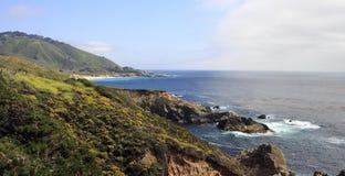 Schöne pazifische gebirgigküstenlinie Stockbild