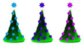 Schöne Pelzbäume des neuen Jahres Lizenzfreies Stockbild