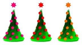 Schöne Pelzbäume des neuen Jahres Stockbilder