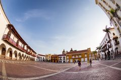 Schöne Piazza in Cartagena Stockfoto