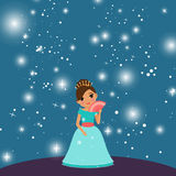 Schöne Prinzessin der Karikatur lizenzfreie abbildung