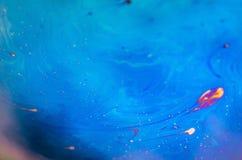 Schöne psychedelische Abstraktion bildete sich durch Licht auf der Oberfläche einer Seifenblase Lizenzfreies Stockbild