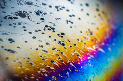 Schöne psychedelische Abstraktionen im Seifenschaum Lizenzfreies Stockfoto