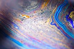 Schöne psychedelische Abstraktionen im Seifenschaum Stockfotos