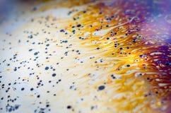 Schöne psychedelische Abstraktionen im Seifenschaum Lizenzfreies Stockbild