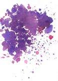 Schöne purpurrote Aquarellflecke, lila Bild Lizenzfreies Stockbild