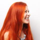 Schöne redhair Frau stockfotos