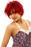 Schöne Redheaded schwarze Frau stockfotografie