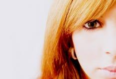 Schöne Redheadfrau Lizenzfreies Stockbild