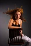 Schöne Redheadfrau Lizenzfreies Stockfoto