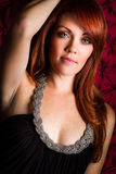 Schöne Redheadfrau Stockbild