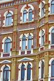 Schöne Reihen der Fenster Lizenzfreies Stockbild