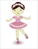 Schöne reizende Mädchenballerina Stockfoto