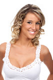 Schöne reizvolle Blondine Lizenzfreie Stockfotos