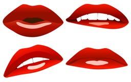 Schöne reizvolle Lippen Lizenzfreie Stockbilder