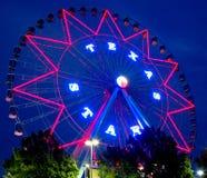 Schöne Riesenrad-Nachtszenen Stockfotos