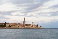 Schöne romantische alte Stadt von Porec, Istrian-Halbinsel, Kroatien, Europa lizenzfreies stockfoto