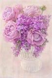 Schöne rosa Blumen Stockfotos
