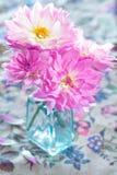 Schöne rosa Blumen Stockbild