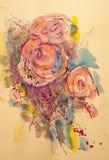 Schöne rosa Pelargonienblumen Stockbild