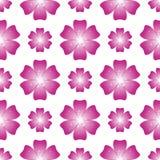 Schöne rosafarbene Blume Nahtloses Blumenmuster Vektor Lizenzfreies Stockfoto
