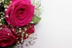 Schöne Rosen bildeten sich in einen schönen Blumenstrauß Stockfotografie