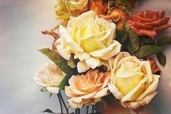 Schöne Rosen Vintage redete an Stockfoto