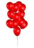 Schöne rote Ballone Stockbild