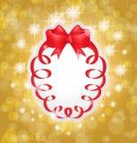 Schöne rote Geschenkbögen mit Farbbändern. Lizenzfreie Stockfotos