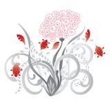Schöne rote und rosafarbene Blumen Stockfoto