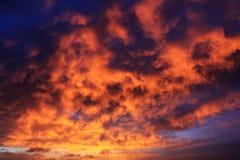 Schöne rote Wolken Lizenzfreie Stockfotos