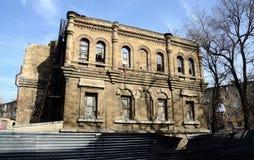 Schöne Ruinen des verlassenen Gebäudes, Odessa, Ukraine Lizenzfreie Stockfotos