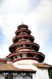 Schöne runde Turmarchitektur in nasalem Chowk-Hof Stockfoto