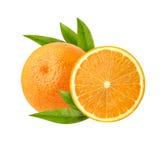 Schöne saftige Orange Schneiden Sie eine Scheibe der Orange mit einer reifen und frischen Masse Lizenzfreie Stockfotografie