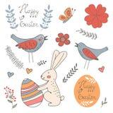 Schöne Sammlung von Ostern bezog sich grafische Elemente Stockfoto