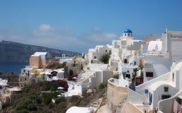 Schöne Santorini Ansicht lizenzfreie stockfotos