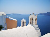 Schöne Santorini-Insel Griechenland lizenzfreie stockbilder