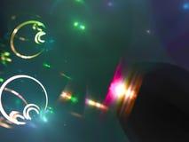 schöne Schablone des abstrakten Fractal, färben digitales Design Stockbilder