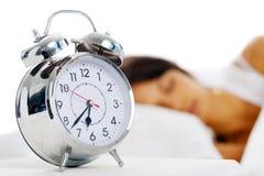 Schöne schlafende Frau lizenzfreie stockbilder
