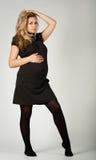 Schöne schwangere Frau Stockbilder