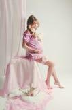 Schöne schwangere Frau Stockfotografie
