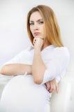 Schöne schwangere Frau Lizenzfreies Stockbild