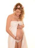 Schöne schwangere Frau Lizenzfreie Stockfotos