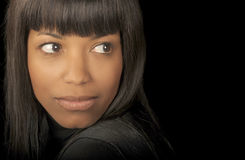 Schöne schwarze Frau stockbilder