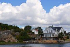Schöne schwedische Häuser Stockfoto