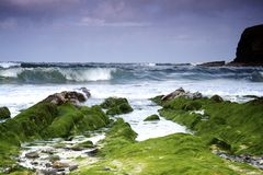 Schöne Seeansicht bei John O'Groats Lizenzfreies Stockfoto