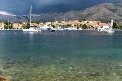 Schöne Seeansicht Dubrovniks Kroatien Lizenzfreies Stockfoto