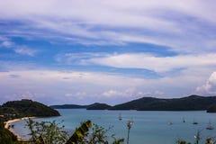 Schöne Seeansicht in Phuket Stockbilder