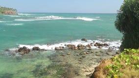 Schöne Seeansicht vom Strand in Sri Lanka stock video footage