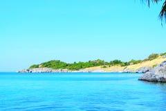Schöne Seeansichtlandschaft Lizenzfreies Stockfoto